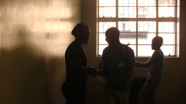 Participant acting a scene